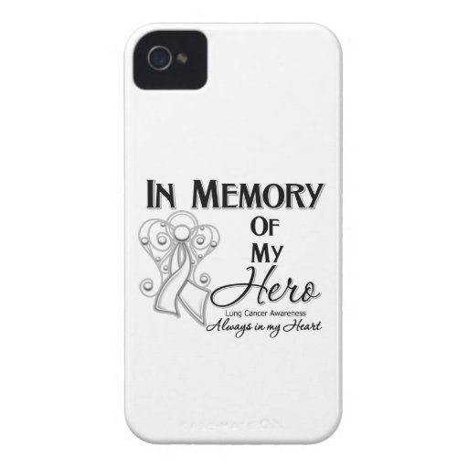 Lung Cancer In Memory of My Hero.png iPhone 4 Cover