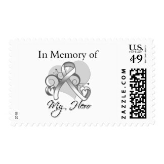 Lung Cancer In Memory of My Hero Postage