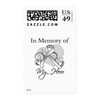 Lung Cancer In Memory of My Hero Postage Stamps
