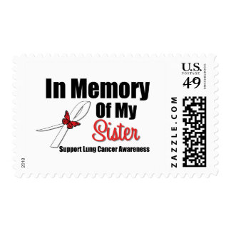 Lung Cancer In Memory of My Sister Postage