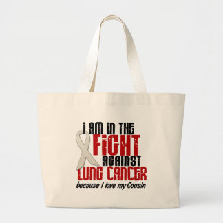 Lung Cancer IN THE FIGHT 1 Cousin Canvas Bags