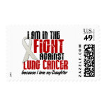 Lung Cancer IN THE FIGHT 1 Daughter Postage Stamps
