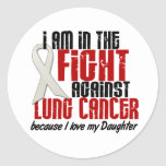 Lung Cancer IN THE FIGHT 1 Daughter Round Sticker