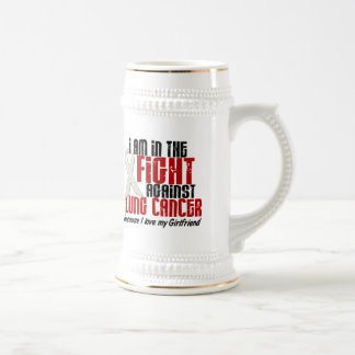 Lung Cancer IN THE FIGHT 1 Girlfriend Beer Stein