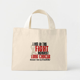 Lung Cancer IN THE FIGHT 1 Grandfather Canvas Bags