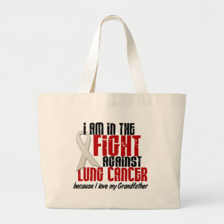 Lung Cancer IN THE FIGHT 1 Grandfather Large Tote Bag