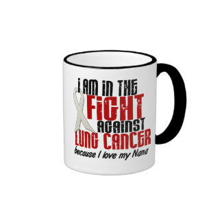 Lung Cancer IN THE FIGHT 1 Nana Ringer Mug