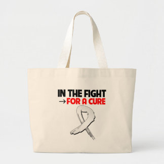 Lung Cancer In The Fight For a Cure Canvas Bag