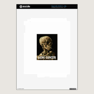 lung cancer kills decal for iPad 2