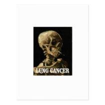 lung cancer kills postcard