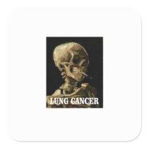lung cancer kills square sticker
