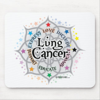 Lung Cancer Lotus Mouse Pad