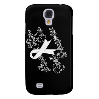 Lung Cancer Love Hope Determination Samsung Galaxy S4 Cover