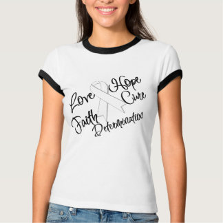 Lung Cancer Love Hope Determination T-shirts