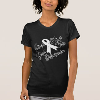 Lung Cancer Love Hope Determination Tshirts