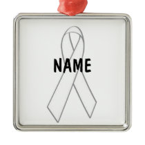 Lung Cancer Memorial Metal Ornament