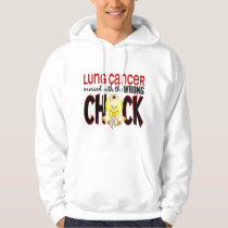 Lung Cancer Messed With The Wrong Chick Hoodie