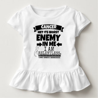 Lung Cancer Met Its Worst Enemy in Me Toddler T-shirt