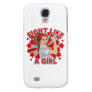 Lung Cancer Modern Rosie Fight Galaxy S4 Cases