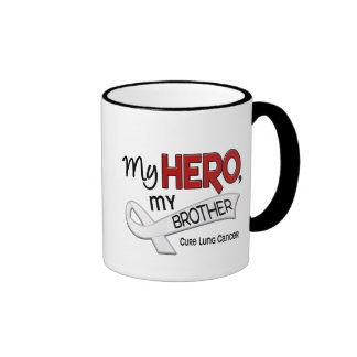 Lung Cancer MY HERO MY BROTHER 42 Ringer Mug