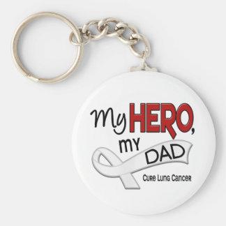 Lung Cancer MY HERO MY DAD 42 Basic Round Button Keychain
