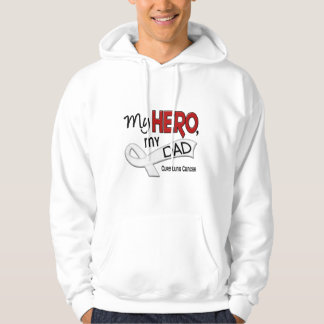 Lung Cancer MY HERO MY DAD 42 Hoodie