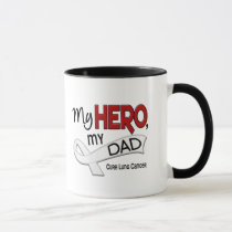 Lung Cancer MY HERO MY DAD 42 Mug