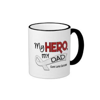 Lung Cancer MY HERO MY DAD 42 Ringer Mug
