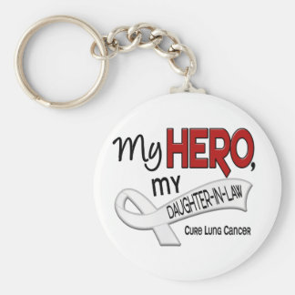 Lung Cancer MY HERO MY DAUGHTER-IN-LAW 42 Keychain