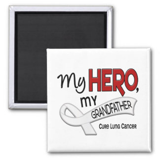 Lung Cancer MY HERO MY GRANDFATHER 42 2 Inch Square Magnet