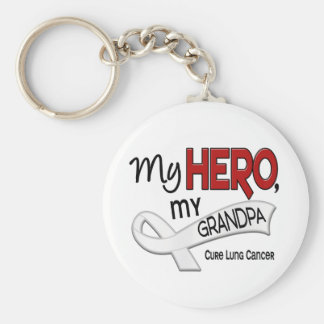 Lung Cancer MY HERO MY GRANDPA 42 Key Chains
