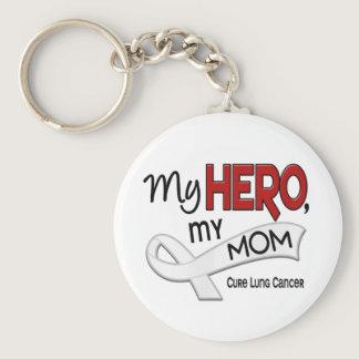 Lung Cancer MY HERO MY MOM 42 Keychain