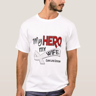 Lung Cancer MY HERO MY WIFE 42 T-Shirt
