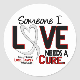Lung Cancer NEEDS A CURE 2 Stickers
