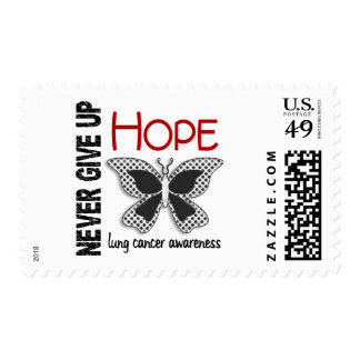 Lung Cancer Never Give Up Hope Butterfly 4.1 Stamps