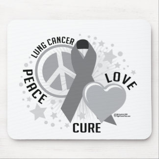 Lung Cancer Peace Love Cure Mouse Pad