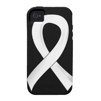 Lung Cancer Pearl Ribbon 3 iPhone 4/4S Cover
