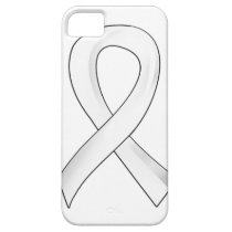 Lung Cancer Pearl Ribbon 3 iPhone SE/5/5s Case