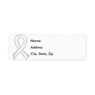 Lung Cancer Pearl Ribbon 3 Return Address Labels