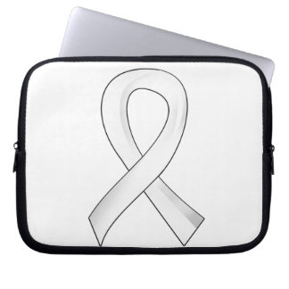 Lung Cancer Pearl Ribbon 3 Computer Sleeves