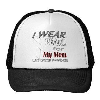 Lung Cancer Pearl Ribbon Awareness T Shirt Trucker Hat