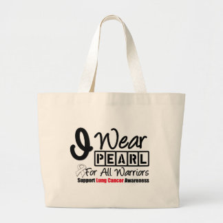 Lung Cancer Pearl Ribbon For All Warriors Bags