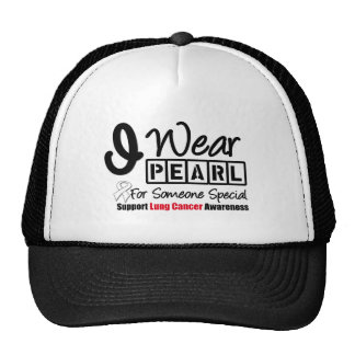 Lung Cancer Pearl Ribbon Someone Special Trucker Hat