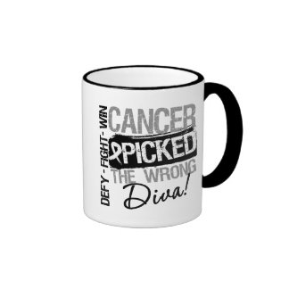 Lung Cancer Picked The Wrong Diva Ringer Coffee Mug