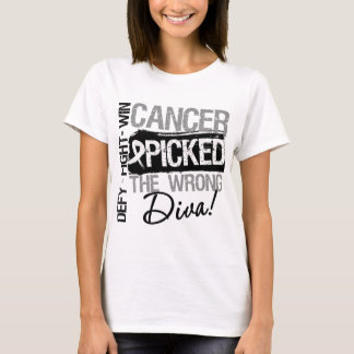 Lung Cancer Picked The Wrong Diva T-Shirt