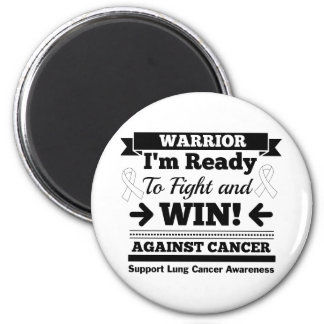 Lung Cancer Ready To Fight and Win 2 Inch Round Magnet