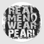 Lung Cancer Real Men Wear Pearl Stickers
