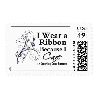 Lung Cancer Ribbon Because I Care Postage Stamp