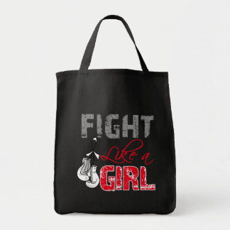 Lung Cancer Ribbon Gloves Fight Like a Girl Bags