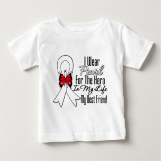 Lung Cancer Ribbon Hero My Best Friend Infant T-shirt